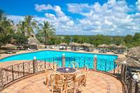 Kenia - Temple Point Resort Aussicht auf Pool