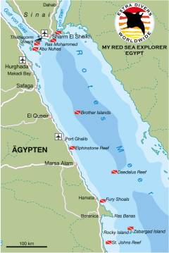 Egypt Dive Map © EXTRA DIVERS WORLDWIDE