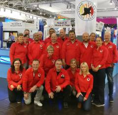 Small part of our team at the boot show 2018 in Düsseldorf