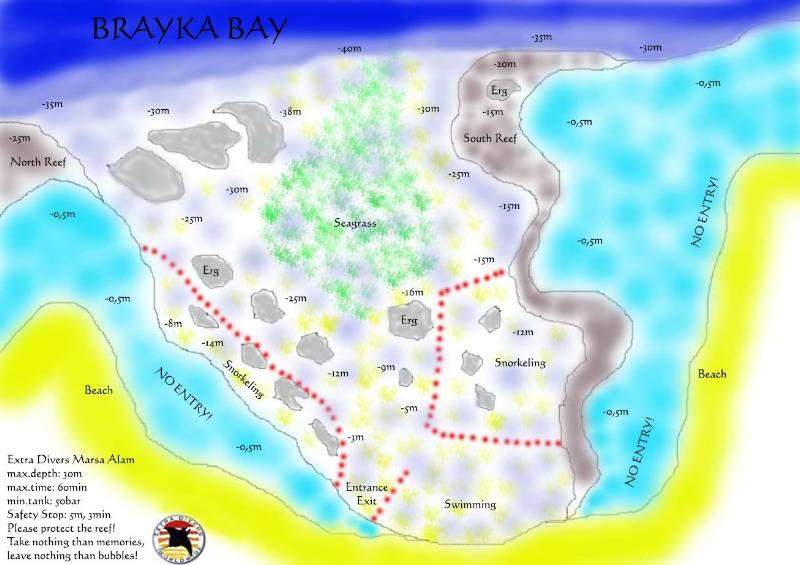 Gallery Resorts Brayka Bay Reef Egypt EXTRA DIVERS - Map of egypt marsa alam